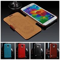 New Arrival Premium PU Leather Case For I9600 Samsung Galaxy S5 Flip Styles Luxury Cover For
