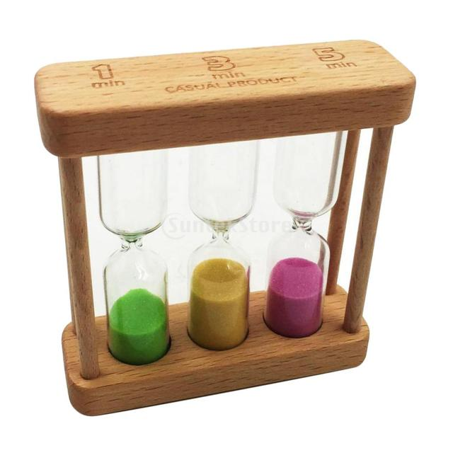 3 in 1 Sand Timer Time Hourglass Desk Office Decor Cooking Timing Dining 1 & 3 & 5 Minutes
