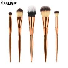 4/5PCS Series Makeup Brush Professional Beauty Tools Gold Contour Eye Shadow Eyebrow Soft Synthetic Set