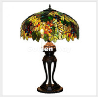 Free Shipping Bohemia Table Lamp European Style Stained Glass Decoration Lamp Bedside Living Room Study Stand Lights Table Lamps