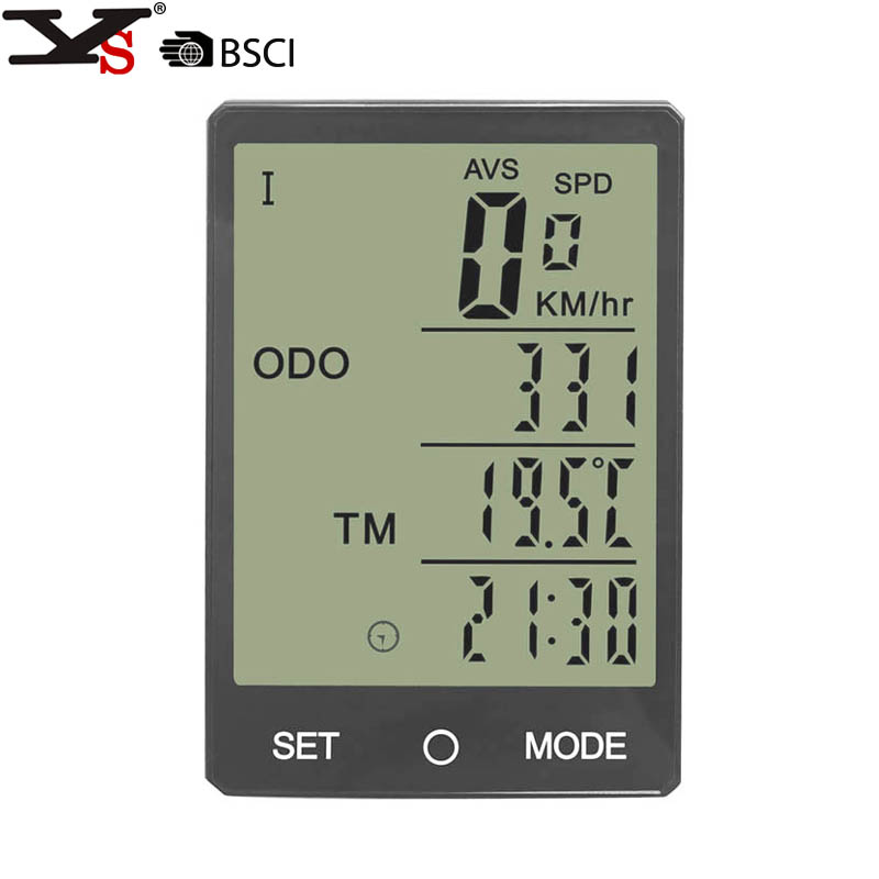 Wireless Bike Computer Speedometer Odometer Rainproof Cycling Bicycle Computer Bike Measurable temperature Stopwatch