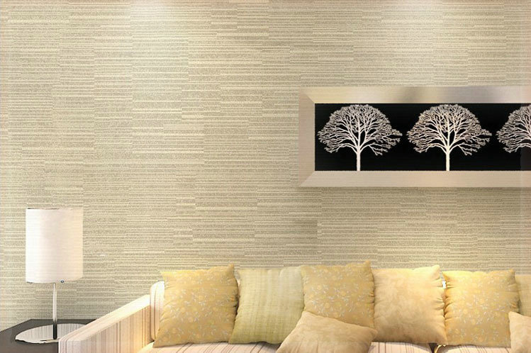 Cream Beige Brown Metallic Horizontal Stripes Pinstripe Design Modern Non Woven Background Wall Wallpaper Roll For Living Room P In Wallpapers From Home
