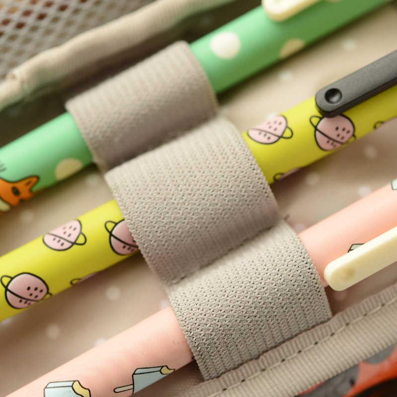 Kawaii Канцтовары большой емкости цветочный пенал для карандашей ручек коробка для хранения школьные офисные принадлежности милая сумочка-косметичка Papelaria для девочек