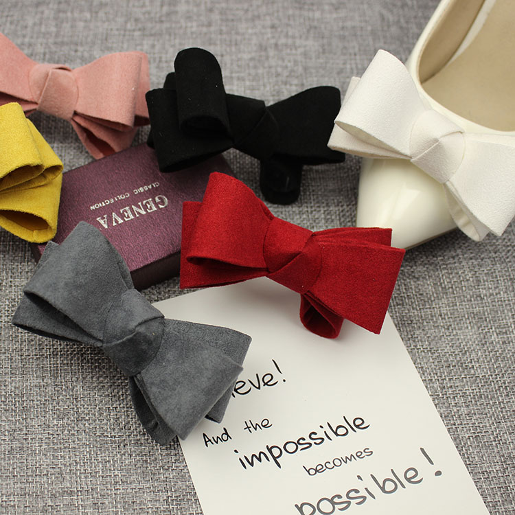 1Piar Fashion Shoe Decoration Candy Color Bowknot Shoe Clip Buckle Hand-made Shoes Accessories
