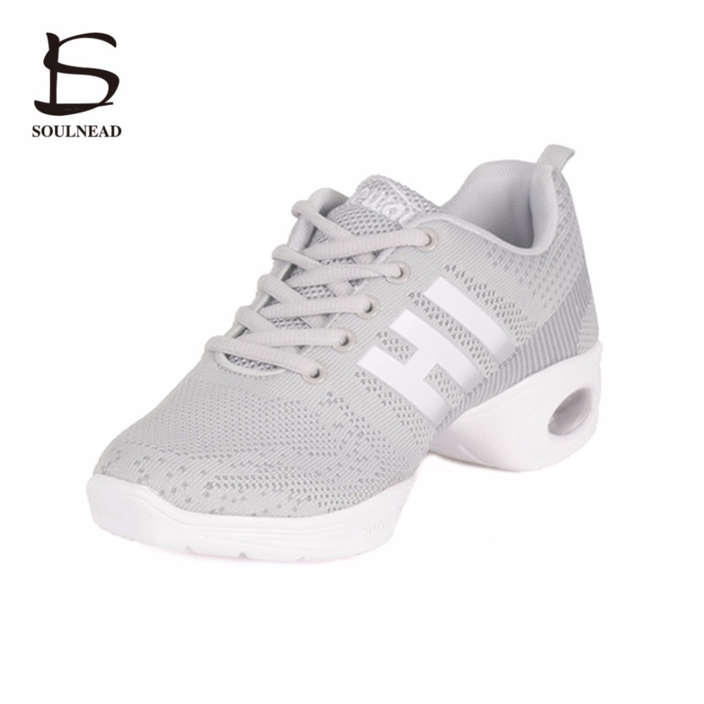 Women Dance Sneakers Jazz Hip Hop Dance Shoes Breathable Outdoor Dancing Shoes For Girls Sports Modern Shoes Low Heeled Shoes