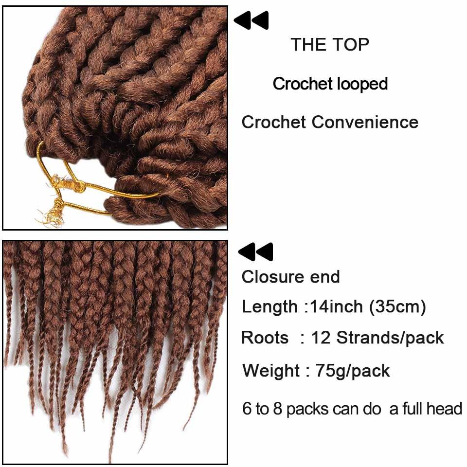 Aliexpress.com: Comprar Xtrend Crochet Box trenzas cabello 14 ...