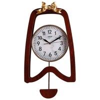 Простое и индивидуальное творчество новых настенных часов домашнее украшение сплошная деревянная стена часы с маятником тихий кварцевый ч