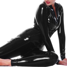 0.8MM Classical Latex Catsuit Front Zipped Latex Rubber Bodysuit