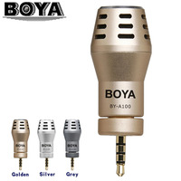 BOYA BY A100 Omni Directional Condenser Microphone for iPhone 7 6 6s 5 5s iPad iPod Audio Broadcast Recording
