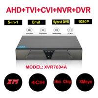 4CH AHD DVR 1080N Video Recorder 5 In 1 4 Channel Hybrid DVR NVR HVR For
