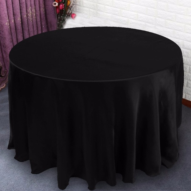 Modern Tablecloths For Weddings 120x120inch Round Table Cloths For Home  Wedding Party Table Decorations High Quality
