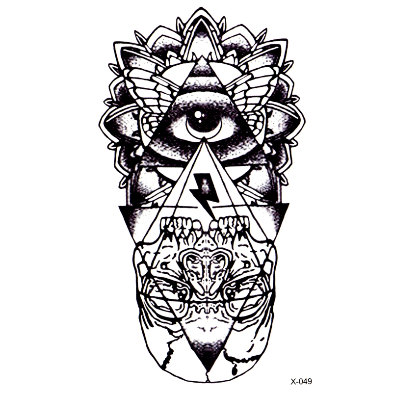 Eye of God Waterproof Temporary Tattoos Sticker totem henna tatoo body art fake tattoo God' s eye flash tattoo for woman men 9