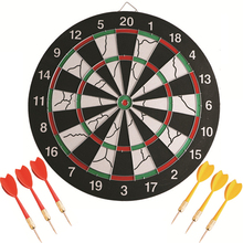 15 inch Darts Boards with 6 pcs needle darts Plate Double-sided Flocking Dart Board Professional Suit Special Disc train A