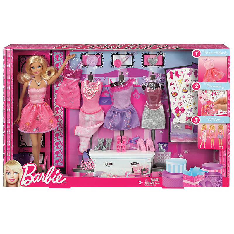 Genuine font b Barbie b font Doll Toys Design Collocation Gift Set With 5 Sets Of