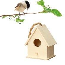 Деревянный дом птица гнездо креативный настенный деревянный стул на воздухе в виде птичьего гнезда с Скворечник деревянный ящик для домашних животных аксессуары дропшиппинг