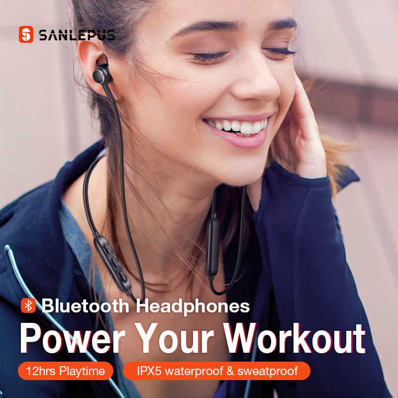 SANLEPUS D02 Không Dây Tai Nghe Thể Thao Bluetooth 5.0 Tai Nghe Tai Nghe Tai Nghe Nhét Tai Cho iPhone Xiaomi Huawei Samsung