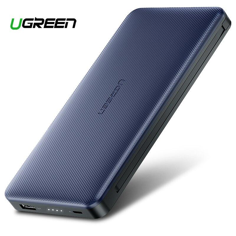 Ugreen Puissance Banque 20000 mAh Pour iPhone X 7 Samsung S9 Pour USB iPhone Câble Powerbank Portable Chargeur Externe Batterie pau Banque