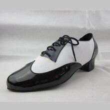 Mix Color Black White Men Latin Dance Shoes Soft Outsole Lace Up Ballroom Tango Dance Shoes Man Dance Sneakers Legend Low Square