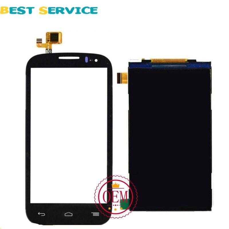 imágenes para 100% nuevo para el alcatel one touch ot5036 5036 5036d lcd de pantalla con pantalla táctil digitalizador asamblea negro