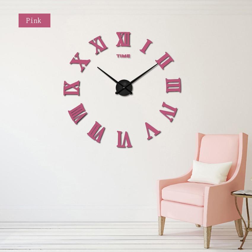 2018 nove velike rimske stenske ure akrilno ogledalo diy ure doma - Dekor za dom - Fotografija 5
