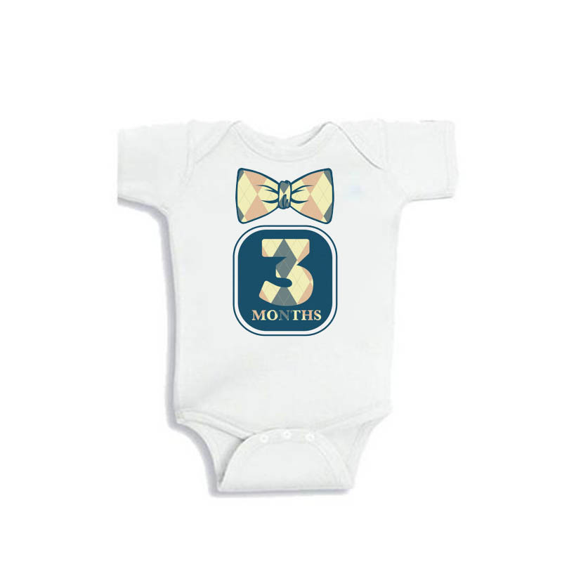 YSCULBUTOL Monthly Bodysuits 12 Month Set of Cute Tie Unisex baby bodysuit Perfect Baby Shower Gift ribbon tie shoulder bodysuit
