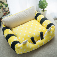 The detachable small dog kennel pet dog bed pad Tactic four summer cat cat dog Bichon pet bed