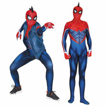 2019 new cosplay Punk Spider-Man tights play costume Halloween jumpsuit Adult children costumes Posting