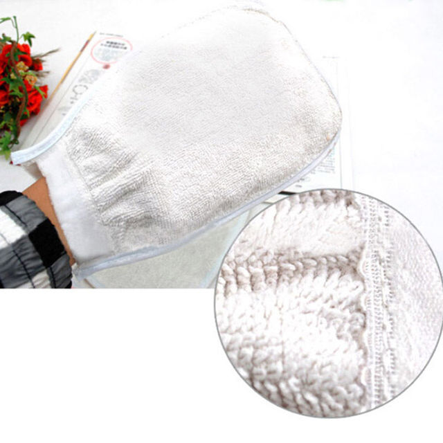 1pc Shower Spa Exfoliator Two-sided Bath Glove Body Cleaning Scrub Mitt Rub Dead Skin Removal 4
