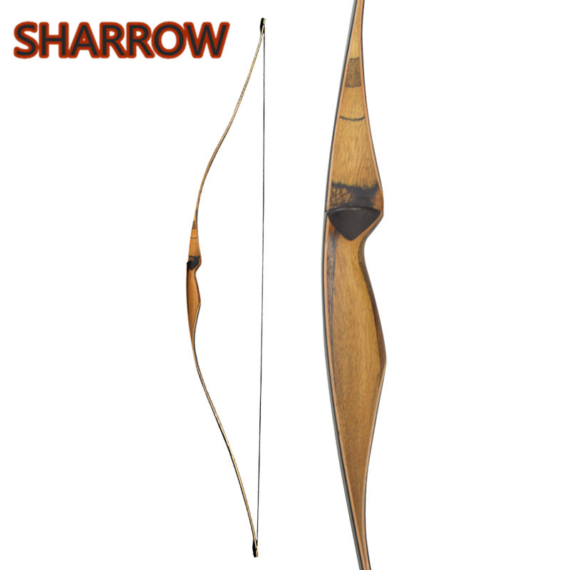 1Pc 54 Traditional Handmade Longbow Recurve Bow 10 35lbs Wooden Laminated Right Hand For Shooting Training