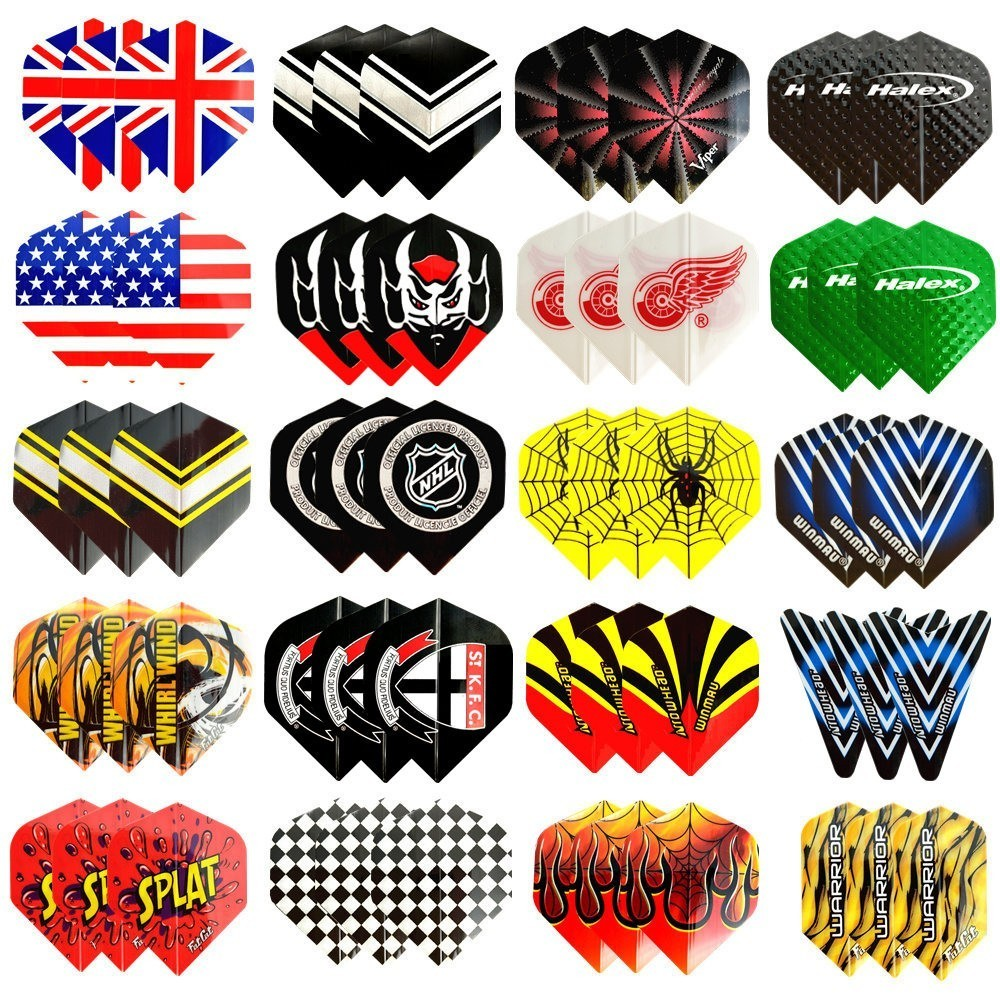 Fox Smiling 60/48/30/12pcs 2D Cool Standard Dart Flights Nice Darts Flight Outdoor Wing Tail Mixed Pattern mixed pattern swimsuit