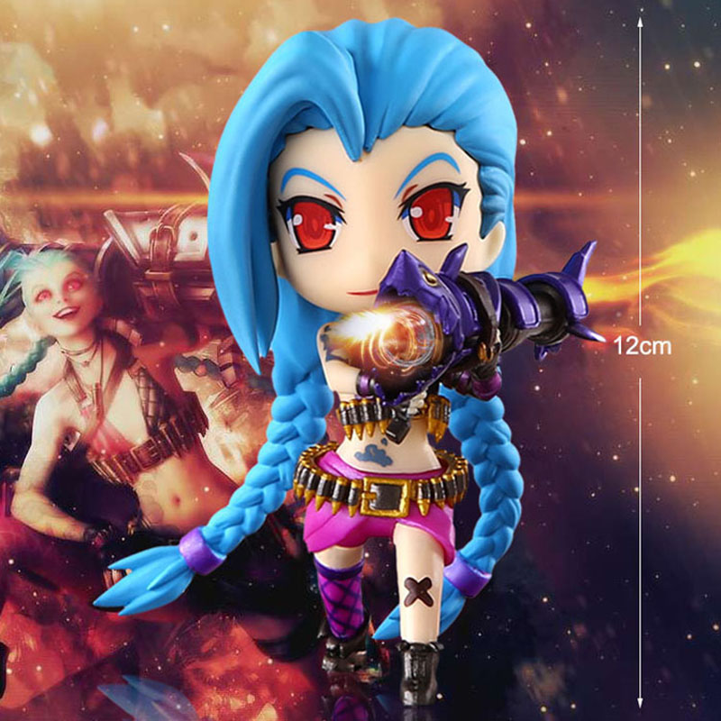 15cm LOL Figure Lolita Jinx Lux Statue Doll PVC Collection Action Garage Kit Toy Cute Anime Toys Gifts RT019