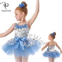Promotion Leotard Performance Dance Costumes Girls Professional Ballet Tutu Children Swan Lake Kids Pancake Balet Infantil