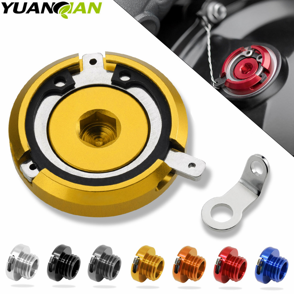 M20 2 5 motorcycle oil cap cnc motorbike Filler Cover Screw FOR kawasaki z1000sx 11 14 13 ducati monster 1100 620 696 796 in Levers Ropes Cables from Automobiles Motorcycles