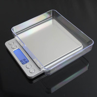 3000g x 0.1g Mini Digital Scale Weighting Scale Electronic and LCD Display g/ oz/ ct/ gn Precision with 2 trays 3kgx0.1g|3000g x 0.1g|kitchen scales|kitchen scale electronic -