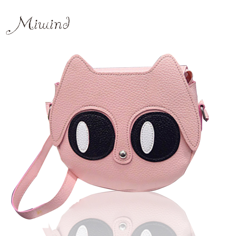 2017 Women Bag Over Shoulder Handbags Crossbody Sling Leather Children Cute Cartoon Print Girl Small Animal Round Phone Handbag