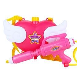Супер милый ангел Рюкзак сопла розовый любовь водяной пистолет для девочек игрушки из мультфильма игрушка Air Давление Лето Одежда заплыва