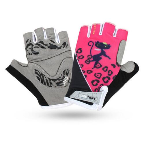 2018 Newest Women Cycling Gloves Pink Half Finger Breathable Sport Summer Outdoor MTB Bike Gloves free shiping BAT FOX DH HOT