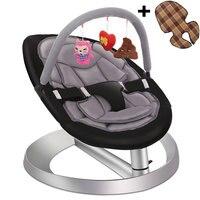 Детское кресло качалка с игрушкой стойки и двойные подушки сиденья, малыши стула, детские качели колыбель, детское кресло рокер