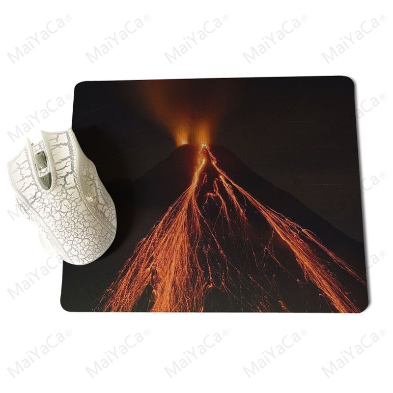 MaiYaCa Volcano Large Lockedge Mouse pad PC Computer mat Size for 25x29x0.2cm Gaming Mousepads