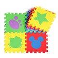 6 pcs EVA Puzzle de Espuma Mat Para Lactentes E Crianças de Piso Impermeável Jogo de quarto Carpete Indoor Decoração Mat Padrão Dos Desenhos Animados Puzzle Mat Divisão