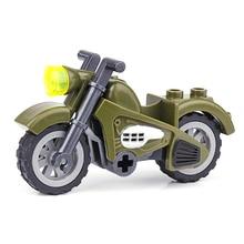 Surwish Военная военная тема DIY маленькие частицы строительный блок модель головоломка сборная игрушка для строительный блок бренды мотоцикл