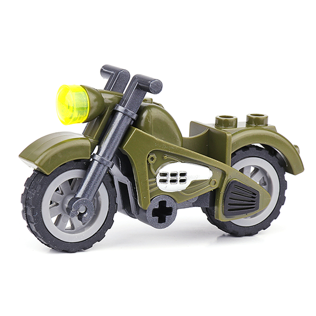 Surwish Military War Theme DIY Small Particle Building Block Model Puzzle Assemble Toy For 100% Building Block Brands Motorcycle