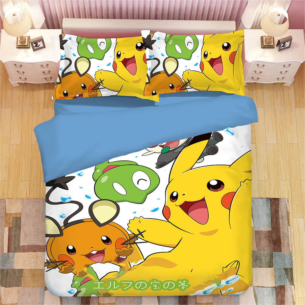 Bettwäsche Pokemon Nette Pikachu Bettwäsche Set Cartoon Pokemon Hallo Kitty Doraemon