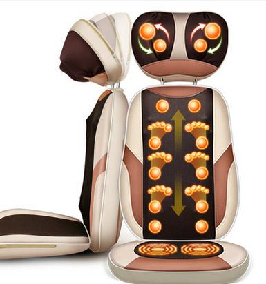 Massage pad neck cervical vertebra massage device household full-body multifunctional cushion electric massage chair rechargeable multifunctional meridian massage the whole body of household authentic cervical vertebra acupuncture pulse fields p