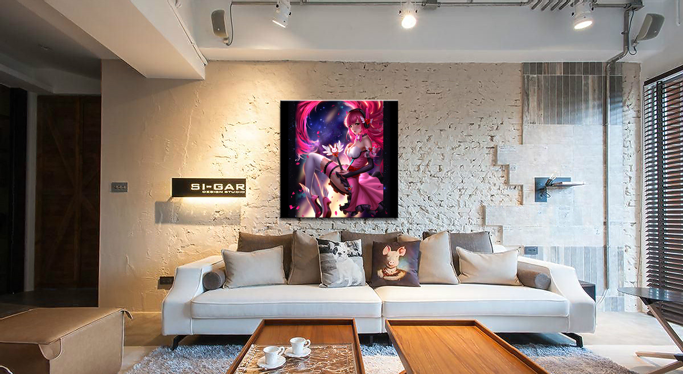 Framework Home Decor Canvas D Va Game 1 Piece Anime Sexy Girl Art Poster Prints Picture Wall Decoration Painting Wholesale in Painting Calligraphy from Home Garden