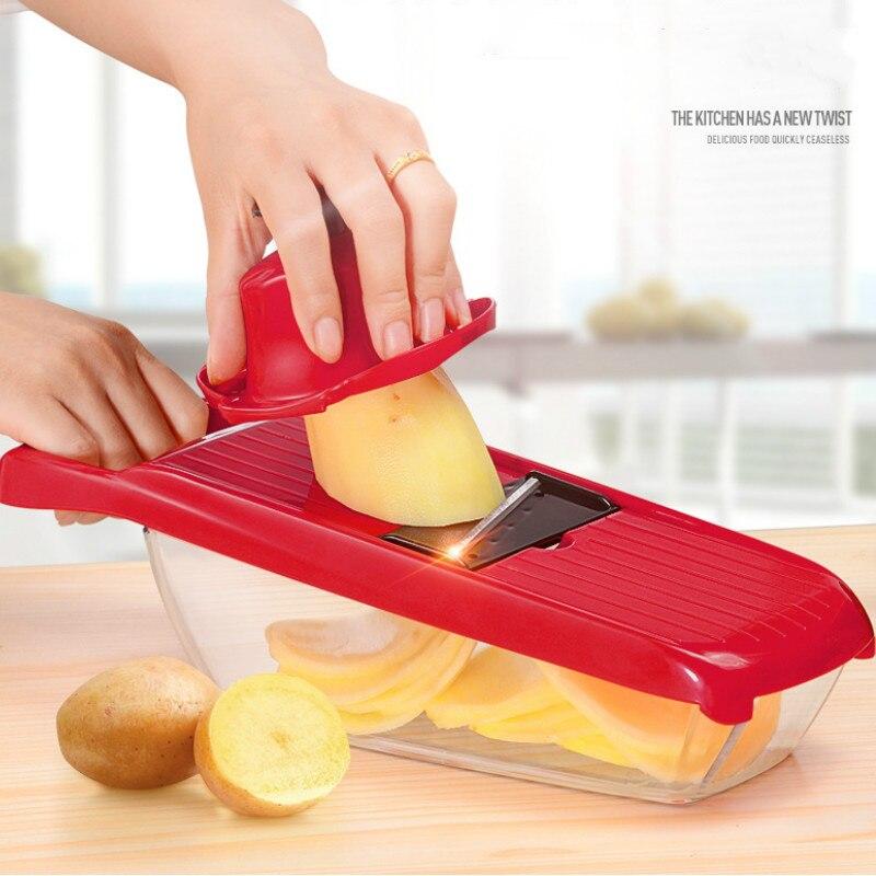 3 new design Multifunction vegetable cutter planer Mandoline Slicer Potato shredder slicing tools with StainlessSteel Blades