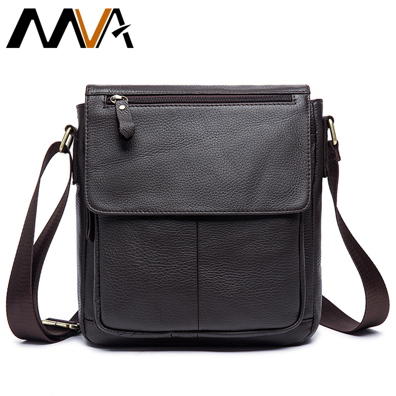 ФОТО MVA Men Messenger Bags Brand Genuine Leather Bag Shoulder Crossbody Bags Casual Handbag Leather Men Bag Travel Small Flap