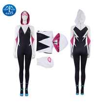 MANLUYUNXIAO Gwen Stacy Cosplay Spiderman Halloween Costume for Women SpiderMan Into the Spider Verse Superhero Female Jumpsuits