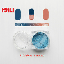 Горячий чувствительный порошок, пигмент, чувствительный к температуре, термохромный порошок, цвет: синий к orange, активированная температура: 31 Цельсия
