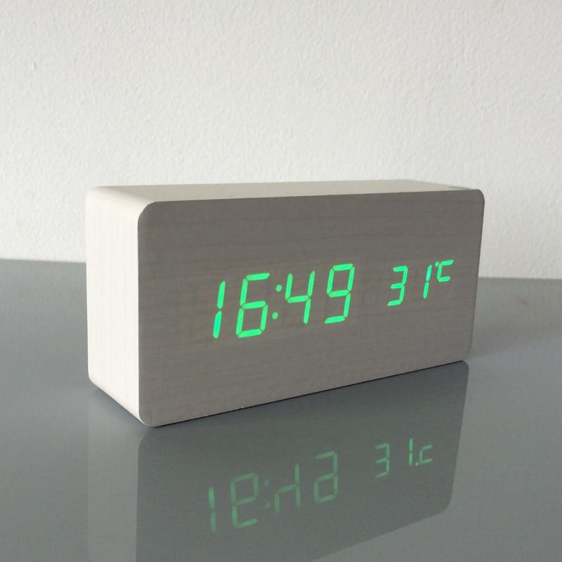 2018 Best High end clocks,Thermometer Alarm clock LED Digital Voice ...